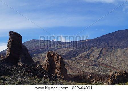 Volcano Teide National Park On The Canary Atlantic Island Tenerife, Spain