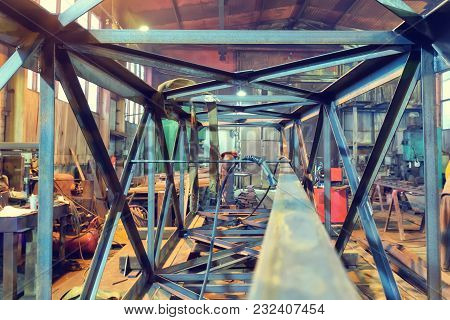 The Old Assembly Plant Of Metal Structures