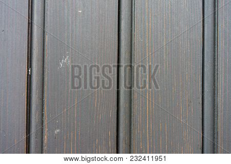 Brown Wood Board Vertical Lines Close Up View