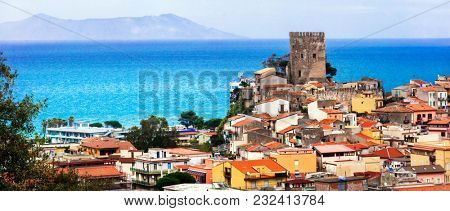 Brolo - scenic medieval village located in the province of Messina. Sicily, Italy
