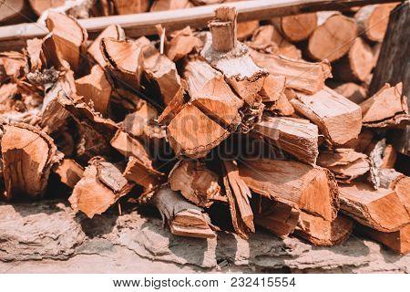 Firewood Tree Cut Log For Fire Or Burn