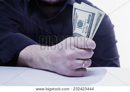 Money Is My Best Motivation. Businessman Working For The Money. (perspective, Enrichment, Freedom, E