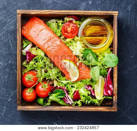 Salted Salmon Fillet With Aromatic Herbs