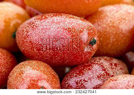 Ripe Elaeagnus Latifolia Fruit - Closeup Detail