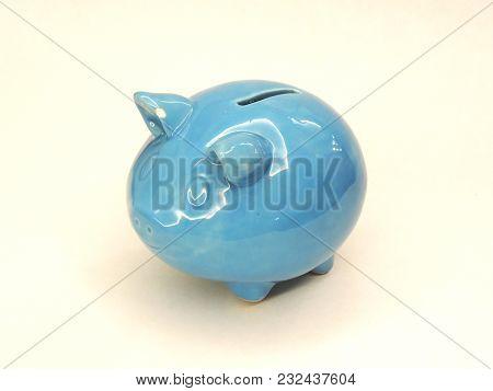 Porcelain Pig-shaped Safe Isolated On White Background