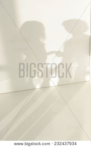 white background with a blurred shadow.