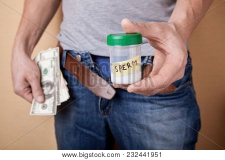 Passing A Sample Of Sperm Into A Sperm Bank For Money. How To Earn Having Received Pleasure. Guy Hol