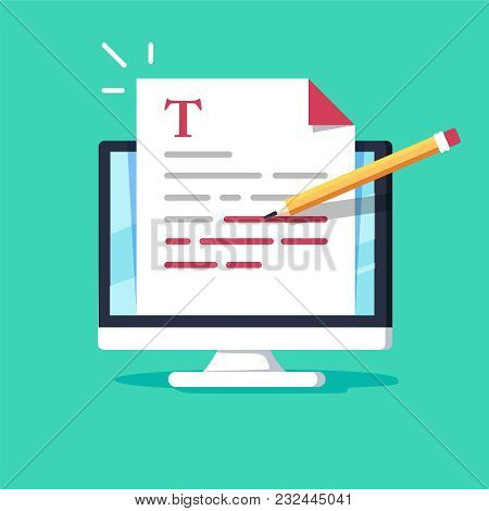 Online Education, Creative Writing And Storytelling, Copywriting Concept, Editing Text Document, Dis