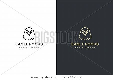 Stylized Geometric Eagle Head Illustration. Vector Icon Tribal Design