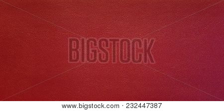 Surface Of Red Leatherette Texture.  Created By Humans For Decoration. Such As Sofa, Cushion, Pillow