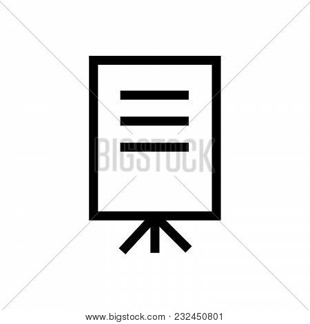 Presentation Vector Icon On White Background. Presentation Modern Icon For Graphic And Web Design. P