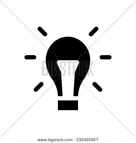 Light Bulb Vector Icon On White Background. Light Bulb Modern Icon For Graphic And Web Design. Light