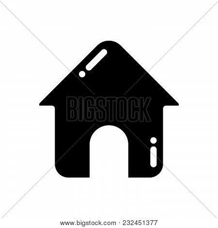Home Vector Icon On White Background. Home Modern Icon For Graphic And Web Design. Home Icon Sign Fo