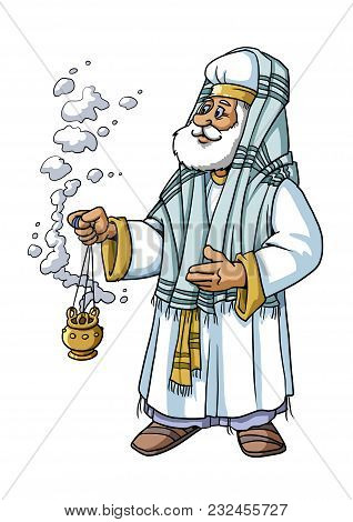 The Old Priest Zacharias Is The Father Of John The Baptist.