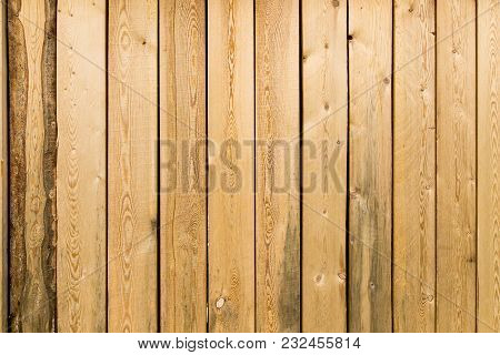 Wooden Boards On The Wall As A Background .