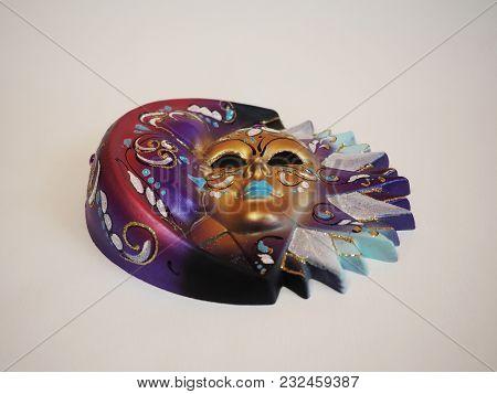 Venetian Mask-male And Female, Sun And Moon