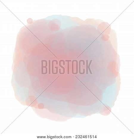 Soft Pink-blue Watercolor Background. Abstract Background For You Design