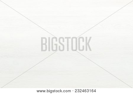 White Wooden Board Surface Background Top View.