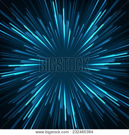 High Speed. Hi-tech. Abstract Technology Background Concept.speed Movement Pattern And Motion Blur O