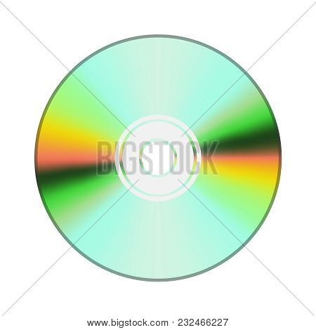 A Realistic Illustration Of A Cd Or Dvd. Compact Dis?. Multimedia Digital Storage Of Information. In