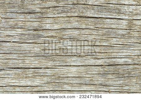 Texture Of The Old Wooden Cracked Board Surface
