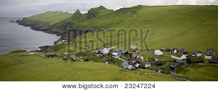 Village of the Island Mykines, Faroe Islands