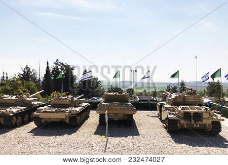 Latrun, Israel-march 13, 2018: Memorial Site And The Armored Corps Museum In Latrun, Israel.