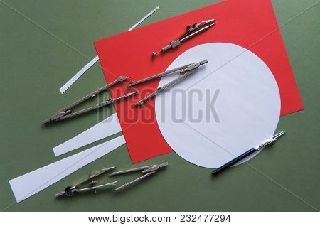 Vintage Tools Used For Drawing. For Architect, Students, Engineers, Artists, Builders, Engineering C