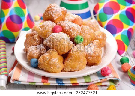 fried donut for carnival day