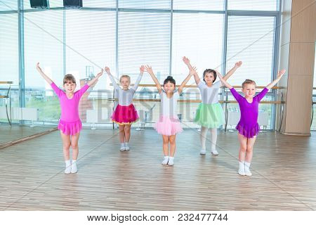 Children Dancing In Choreography Class. Happy Children Dancing On In Hall, Healthy Life, Kid's Toget