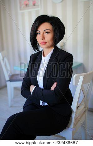 Portrait Of Beautiful  Business Lady