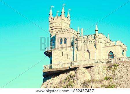 Swallow's Nest Castle On The Rock Over The Black Sea In Crimea, Russia.