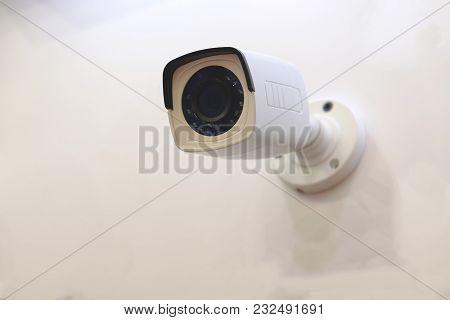 Cctv Surveillance Camera On Outside Wall System