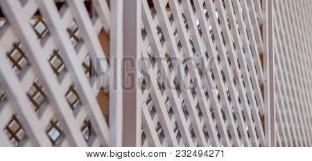 Texture Of The Wooden Lattice. Can Be Used As Background.