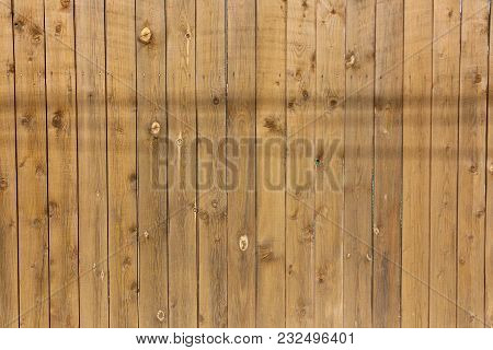 Wood Vertical Brown Texture, Wood Background With Knots.