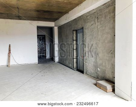 Material For Repairs In An Apartment Is Under Construction Remodeling Rebuilding And Renovation.