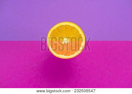 The Orange One Is Tropical Fruit Background Ultraviolet Object Useful Natural Organic Food Minimalis