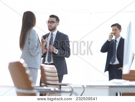 office employees in the workplace.