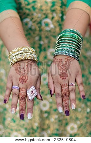 Traditional Indian Mehndi For A Wedding Ceremony