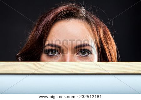 Pretty Young Girl Holding Whiteboard
