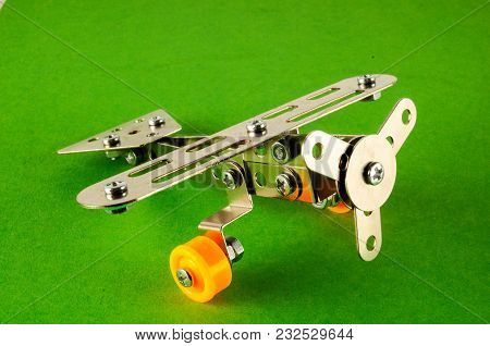 Photo Picture Of A Small Toy Metal Plane Airplane