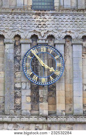 12th Century Romanian Style Church Of St Mary The Virgin, Clock Tower, Dover, United Kingdom