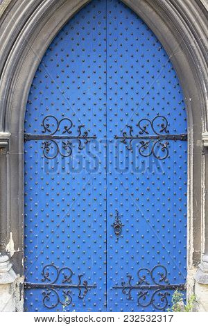 12th Century Romanian Style Church Of St Mary The Virgin,  Blue Door, Dover, United Kingdom