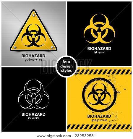 Set Biohazard Symbols Vector Photo Free Trial Bigstock