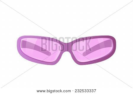 Pink Sunglasses. Glamorous Girls Accessories Vector Illustration.