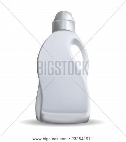 Household Chemicals Blank Plastic Bottles With Handle And Bent Tip Realistic Vector Isolated On Whit