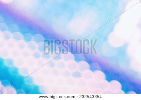Holographic Foil Background With Trendy Holo Color Style And Sparkly Bokeh Light Effect. Hologram Gl