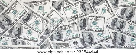 A Pattern Of Many Dollar Bills. Background Image
