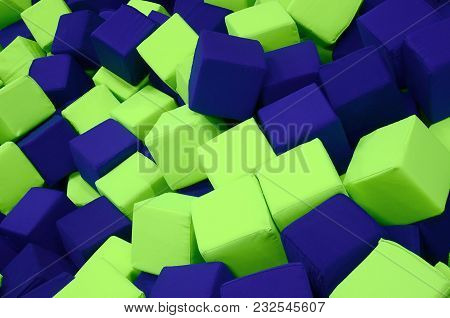Many Colorful Soft Blocks In A Kids' Ballpit At A Playground