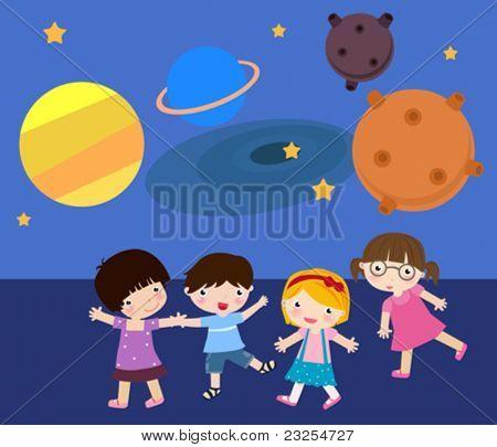 Children play in the Planetarium